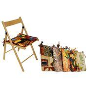 Подушки на деревянные стулья фото