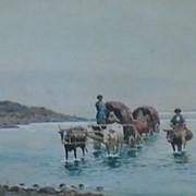 Переход реки вброд фото