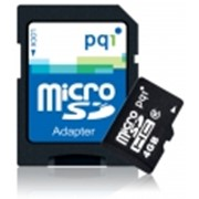 Карта памяти Micro SD 4 GB HC C2 2in1 PQI Adapter фото