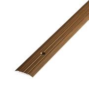 ЛУКА Порог стыкоперекрывающий ПС 01-1800-091 дуб темный (1,8м) 25мм фото