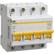 Автоматический выключатель ВА47-29М 4P 1A 4,5кА х-ка D ИЭК фото
