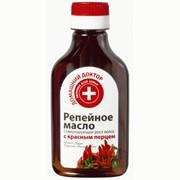Репейное масло стимулирующее рост волос Домашний доктор с красным перцем 100 мл фото
