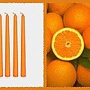 Свеча восковая №20 оранжевая с ароматом апельсина фото