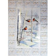 Керамическое панно Снегири фото