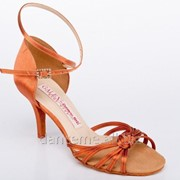 Galex Обувь женская для латины Стелла, кедр сатин фото