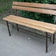 Скамейка парковая, садовая деревянная со спинкой фото