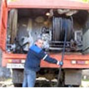 Услуги по очистке труб каналопромывочными машинами фото