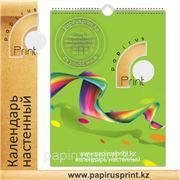 Календари настенные, перекидные и плакаты, изготовление настенных календарей в Алматы фото