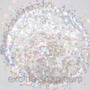 Белый глиттер-5 грамм-0,2 мм фото