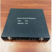 Набор из 10 ареометров + мерный цилиндр на 250 мл фото