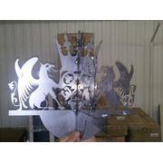 Художественная лазерная резка листового металла. Флюгер. фото