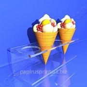 Подставка для рожков и мороженого из акрила и оргстекла фото