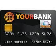 Пластиковая банковская карта фото