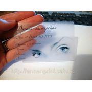 Прозрачные визитки фото