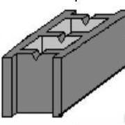 Камень бетонный стеновой СБ 390 390х190х190 цветной фото
