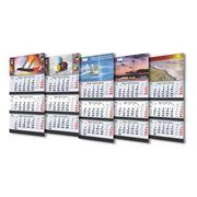 Календарь квартальный на 3 спиралях с цветной подложкой фото