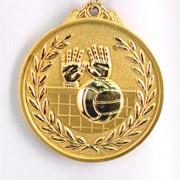 Медаль рельефная Волейбол золото фото