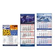 Календари настенные квартальные фирменные