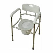 Кресло-туалет облегченное складное со спинкой (AMCF96) фото