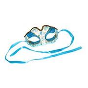 Карнавальная маска Венеция голубая фото