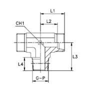 Штуцер ввертный / Т-образный, уплотнение тип С Тип: 1025…1 корпус фото