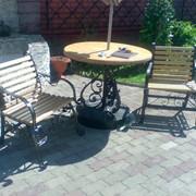 Стол и стулья кованые фото