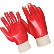 Перчатки защитные с полным ПВХ покрытием МБС КЩС фото
