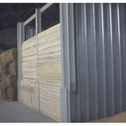 Ворота из деревянных досок разборные фото