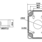 Монтажная коробка для настенного кронштейна RVi-MB1 фото
