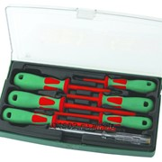 Набор отверток диэлектрических PH# 0х60, 1х80, 2х100, SL 4х100, 5,5х125, 6,5х150, индикаторная отвертка 220-250V, 7 предметов, код товара: 48787, артикул: DV13PP07S