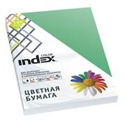 Бумага офисная Index Color, А4, 100 л, изумрудно-зеленый, 80 г фото