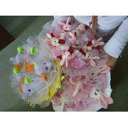 Изготовление букетов из игрушек фото