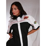 Спортивная черно-белая футболка от MA-FRA фото