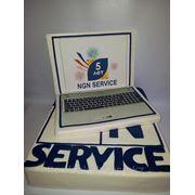 Торт корпоративный, фотопечать фото