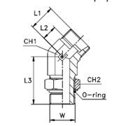 Штуцер ввертный регулируемый FR / угловой 45°, тип А Тип: 1066...1 корпус фото