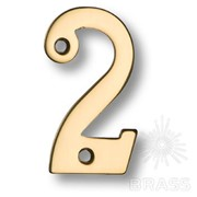 Номер на дверь, цифра 2, латунь 700200-7020179 фото