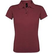 Рубашка поло женская PRIME WOMEN 200 бордовая, размер M фото