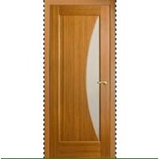 Межкомнатные двери со стеклом светло-коричневые фото