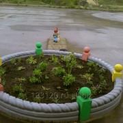 Клумба садовая фото