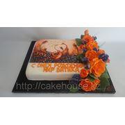 Торт фотопечать со съедобными цвеами фото