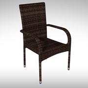 Кресло плетенное из ротанга Topazzio 55x60x80 cm фото