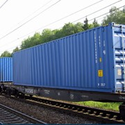 Контейнерные перевозки грузов железнодорожным транспортом фото
