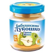 Б.лукошко пюре из груш и яблок (с 5 мес) б/сах. 100г фото