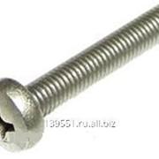 Винт DIN 84 цилиндрическая головка, прямой шлиц M6x20, А2 фото
