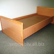 Кровать детская из ДСП с деревянной обкладкой 81315 фото