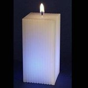 Свеча хамелеон мигающая Параллелепипед граненный фото