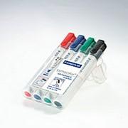 Набор маркеров для белых досок STAEDTLER Lumocolor, круглый, 2 мм, 4 шт. фото