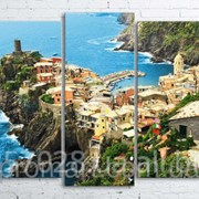 Модульна картина на полотні Vernazza. Cinque Terre National Park код КМ100200(176)-058 фото