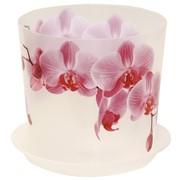 Кашпо ДЕКО 1,2л d=125мм орхидея с/п *48 (М-Пластика) фото