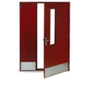Противопожарная двустворчатая остеклённая дверь EIS60 фото